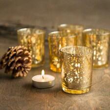 12x Mercury Glass Votive Candle Holders - Home Wedding Decor UK