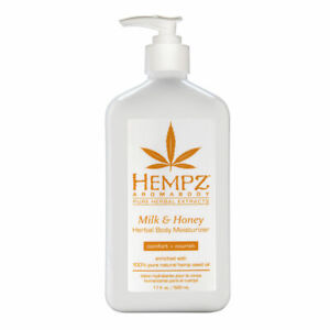 Hempz Milk Honey Herbal Body Moisturizer 17.0 oz Brand New