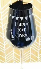 Personalised Engraved Any Message Wine Glass