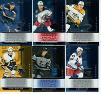 19/20 UD TRILOGY LOT OF 10 ROOKIE CARSD GLASS, MYERS, LIZOTTE, BRANNSTROM