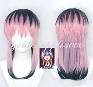 Tokyo Revengers RinDo HaiTani Black Pink Gradient Cosplay Wig