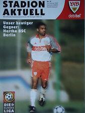 Programm 2000/01 VfB Stuttgart - Hertha BSC