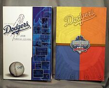 Los Angeles Dodgers Media Guides 2 books 2001 & 2002