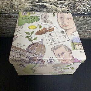 """Gucci Nobile Empty Gift Box Rare 8.5""""x8.5""""x5.25"""" Storage Italy Pierre Le-Tan"""