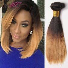 8A 300g/3bundles Brazillian virgin ombre straight Human Hair 10inches uk