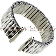 16-22mm Hadley Roma Stainless Steel Twist-O-Flex Mens Watch Band Long MB7336W