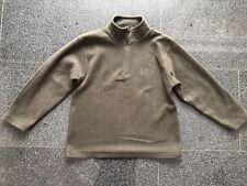 0652dd187b Jungen Fleece Pullover Sweatshirt oliv braun grün Stehkragen Gr.122 128