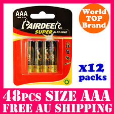 48PCS Super Alkaline AAA Batteries PAIRDEER Battery AAA 1.5V Bulk Buy