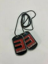 Eminem Rapper Hip Hop Dog Tag Dog Tags Necklace Red Black Pewter (Dr3)