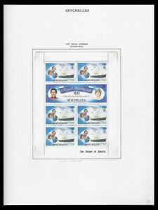 SEYCHELLES 1981-83 ISSUES ON 4 PAGES (LHM/UHM) *CLEAN & FRESH*
