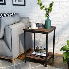 2 Tiers Sofa Bed Side End Table Cofee Tea Tables MDF Metal Feet Furniture Shelf