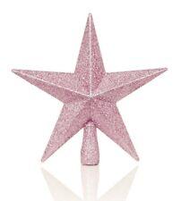 Weihnachts Dekoration Pink Tree Top 200mm bruchsicher Glitter Star