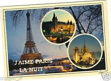 75 - cpsm - J'aime PARIS la nuit (H6444)