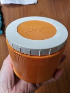 Vintage Thermos King-Seeley Model 1155 Insulated 8 oz Jar Soup Container Orange