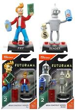 Mega Construx Heroes set of 2 Futurama Bender and Fry Action Figures Series 2