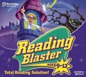 READING BLASTER Ages 9-12  Vista 7 8 10 Grammar Comprehension  Brand New Sealed