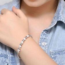 Bracelets Femmes Fille Charm Chaîne Ouvert Bangle Plaqué Argent Manchette Bijoux