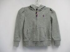 Polo Ralph Lauren Girls Gray Long Sleeve Hoodie Sweatshirt Size 4T