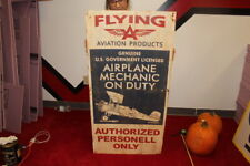 Large Flying A  Aviation Products Airplane Mechanic Duty Gas Oil 48