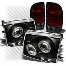 For 97-00 Tacoma Black Projector Headlights + R/S LED Perform Tail Lights