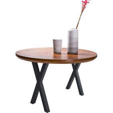 Set of 2 28'' Modern Industrial X-Shape Table Legs, Heavy Duty Dining Bench Legs