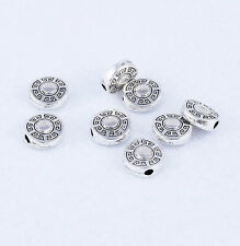 30pcs Tibetan silver Charm Loose Round Spacer Beads Jewelry Findings 8x3mm