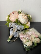 Pink Peony wedding bouquet With 6 Pins