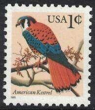 Scott 2477- 1c American Kestrel, Flora and Fauna Series- MNH 1995- mint stamp