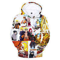 Hokage Ninjia Naruto0 Hoodie Mens 3D Print Hooded Sweater Pullover Sweatshirt