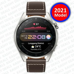 HUAWEI WATCH 3 Pro Classic - 4G Titanium Smartwatch Brown Leather 2021 Model NEW