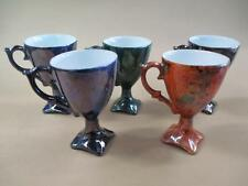 Coffee Cups, Lustreware, x 5, Vintage