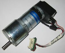 "Globe Motors 18 RPM Gearhead Motor w/ HEDS-5505 Encoder - 3/16"" D Shaft - 24V DC"