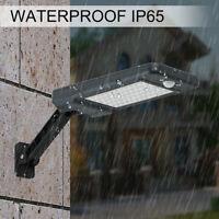 60 LED Solar Street Wall Lights PIR Motion Sensor Outdoor Garden Dimmable Lamp