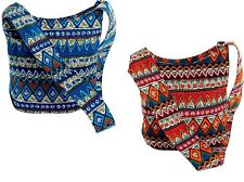 Shoulder bag-hip bag Full zip-Orange Blue-mix Aztec-Two for £10 offer !!