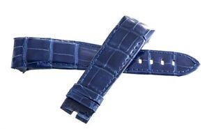 Genuine Graham 24mm x 20mm Blue Alligator Leather Band