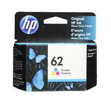 HP #62 Color Ink Cartridge 62 C2P06AN NEW GENUINE