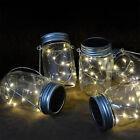 1 Pack LED Fairy Light Solar Mason Jar Lid Lights Color Changing Decor Garden