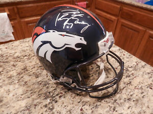 NFL, Denver Broncos, Peyton Manning signed helmet, authentic Riddle, COA