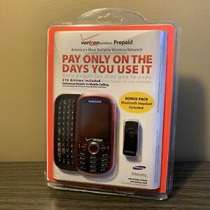 Verizon Prepaid Samsung Intensity Messaging Mobile Phone Web  $10 Airtime Includ