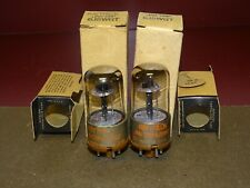 Pair, Raytheon Type JAN CRP 6J5WGT Radio/Audio Tubes, NOS