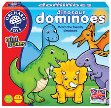 Orchard Toys Dinosaur Dominoes Mini Game - NEW