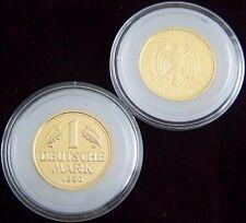 ORIGINAL KAPSEL FÜR - 1 GOLD DM MÜNZE 2001 - GOLDMÜNZE - MARK