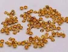 Gold Cap Diamond Cut Making Fabulous Caps Jewelry Lot Of 100 Pcs Bulk Tiny 3 Mm