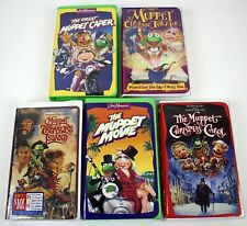 5 VHS Lot Tapes Muppets Jim Henson Videos 1 Still Sealed Muppet Movie ++