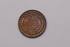 TUNISIA 10 CENTIMES 1904 HIGH GRADE B30 #K9394