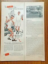 1953 Carter's Trigs Underwear Ad Father Son Just Married Decorating the Auto