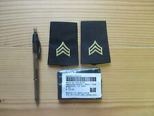 US Army Shoulder Marks for Service Dress Blues, Sergeant E-5 Small size 1 pair