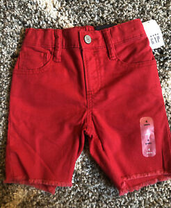 GAP Kids Toddler Denim Shorts Sz 4 Boys Summer Clothes Pure Red