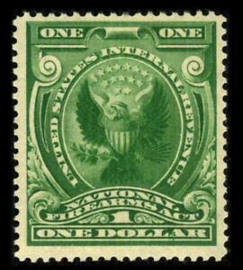 RY3 REVENUE Firearms Transfer $1 Green EAGLE & SHIELD MLH $85 SEE PHOTOS L-549