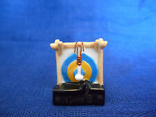 TAM-TAM GONG Single Miniature Figurine FRENCH Porcelain Feves MUSICAL INSTRUMENT
